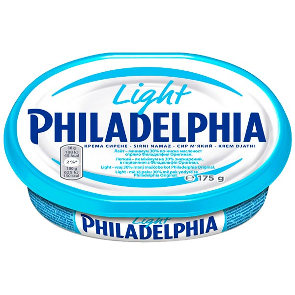 Крем-сир Kraft Philadelphia light 175г